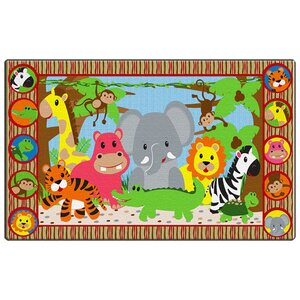 Cutie Jungle Kids Rug