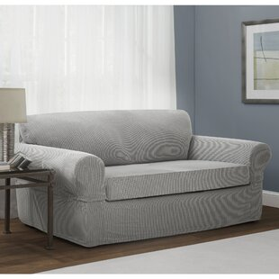 Stretch Box Cushion Loveseat Slipcover