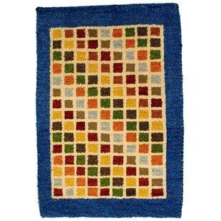 Rossett Hand-Woven Wool Blue/Yellow/Green Indoor/Outdoor Rug By Bloomsbury Market