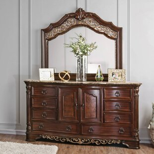 Caulfield 8 Drawer Combo Dresser with Mirror