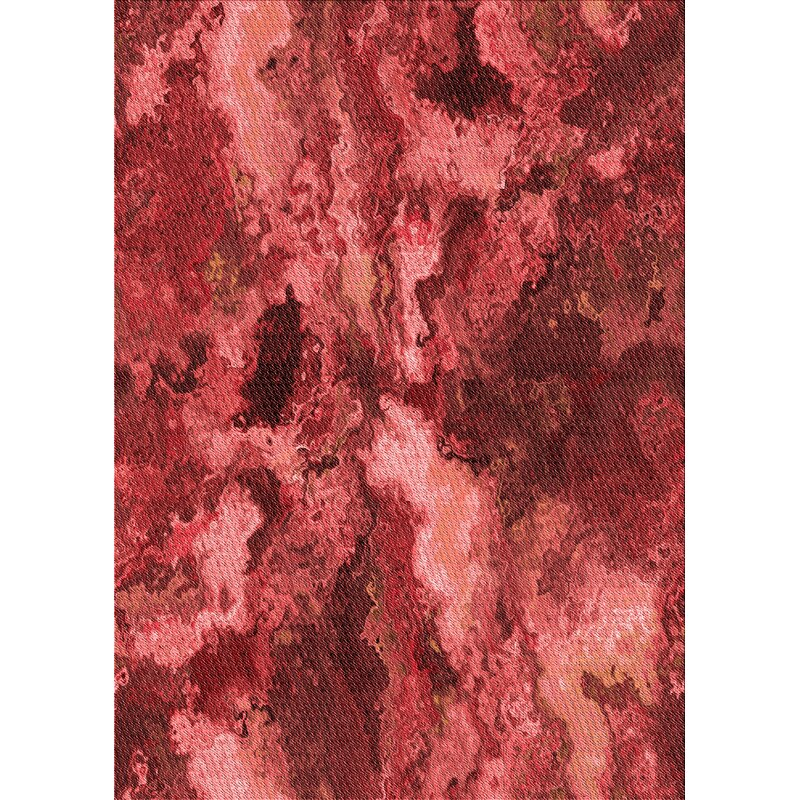 East Urban Home Fritts Abstract Wool Red Area Rug Wayfair