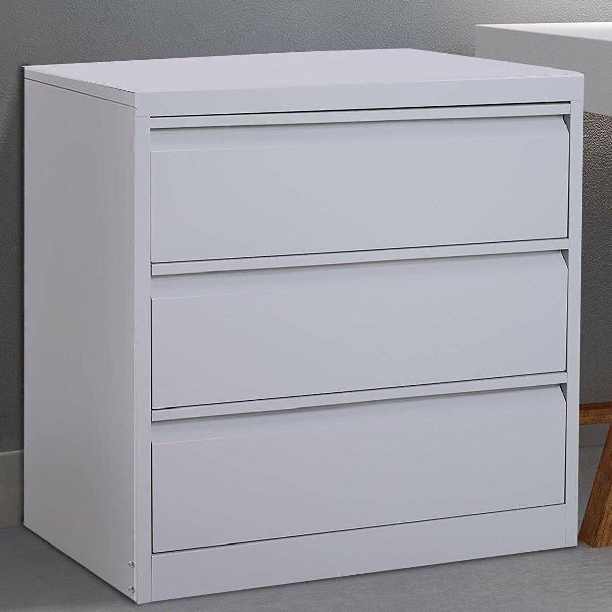 Symple Stuff Tamra Metal 3 Drawer Lateral Filing Cabinet