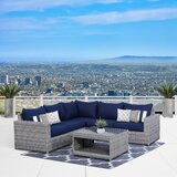 Kordell 6 Piece Sectional Seating Group with Cushions by Sol 72 Outdoor