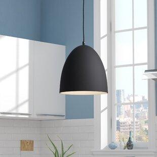 Savings Utopia Round 1-Light Bell Pendant By Wrought Studio