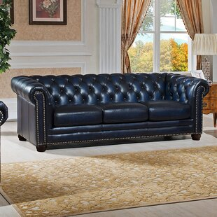 Kraig Leather Chesterfield Sofa