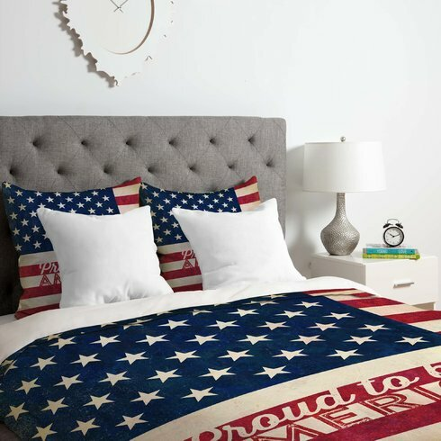 Proud To Be An American Flag Comforter Set