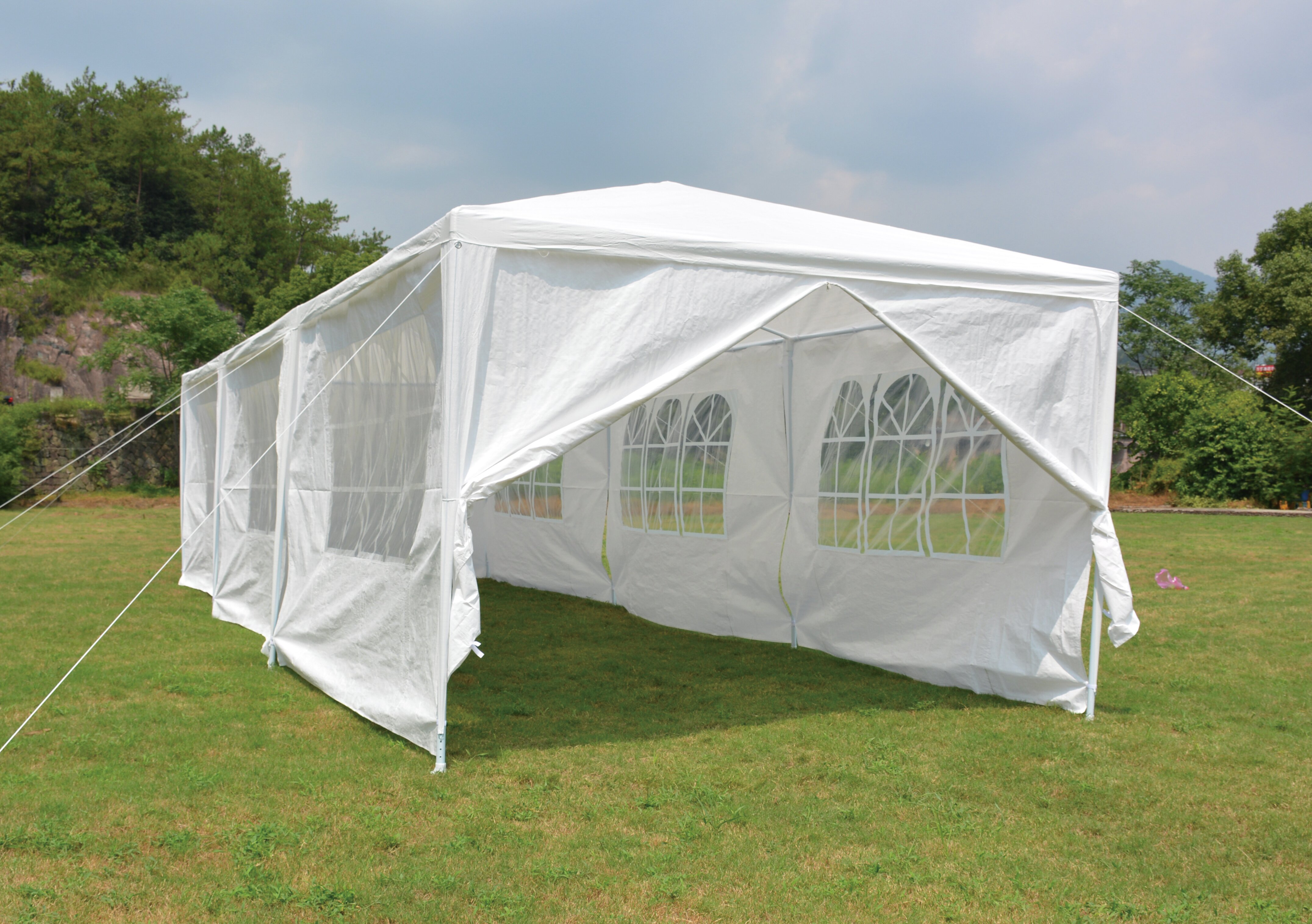Backyard Expressions 30 Ft W X 10 Ft D Steel Party Tent Reviews Wayfair