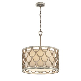 Rosdorf Park Antoine 5-Light Drum Pendant