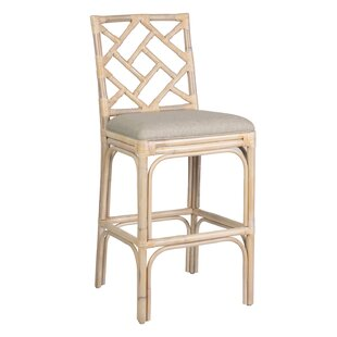 Michel Rattan 30 Bar Stool Rosecliff Heights