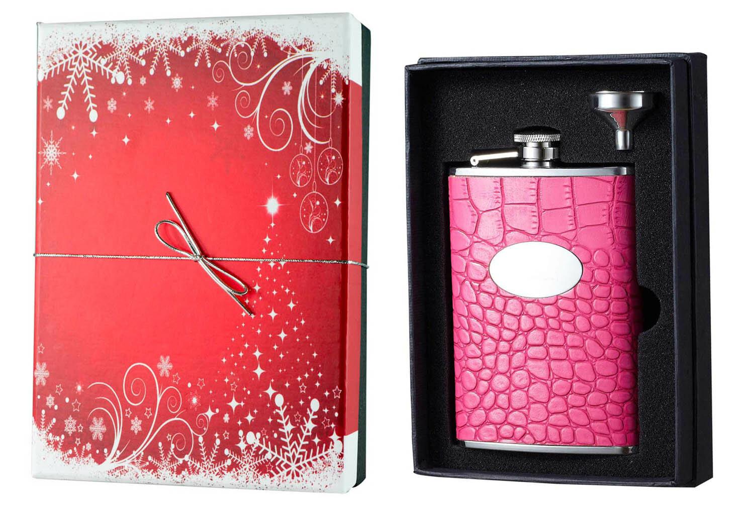 Visol Products Essential Ii Arojo Hot Leather Holiday Liquor Flask Gift Set Wayfair