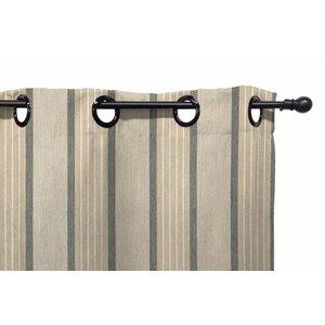 Striped Semi-Sheer Grommet Single Curtain Panel