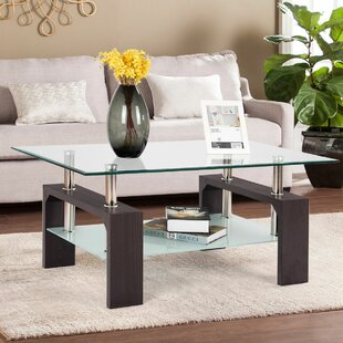 Colm Rectangular Tempered Glass Coffee Table Orren Ellis