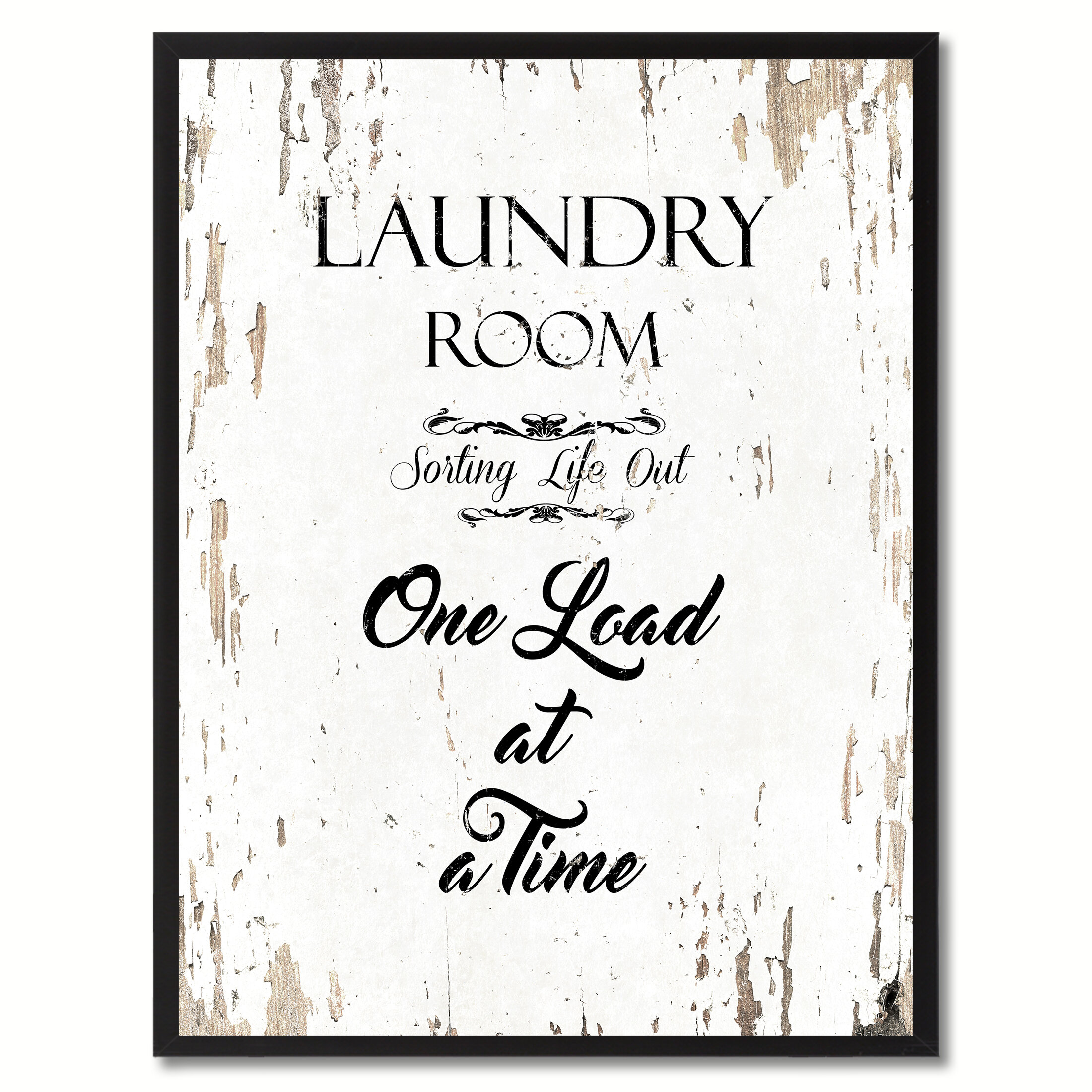 Laundry Room Sorting Life Out One Load At A Time Framed Textual Art On Canvas Reviews Joss Main