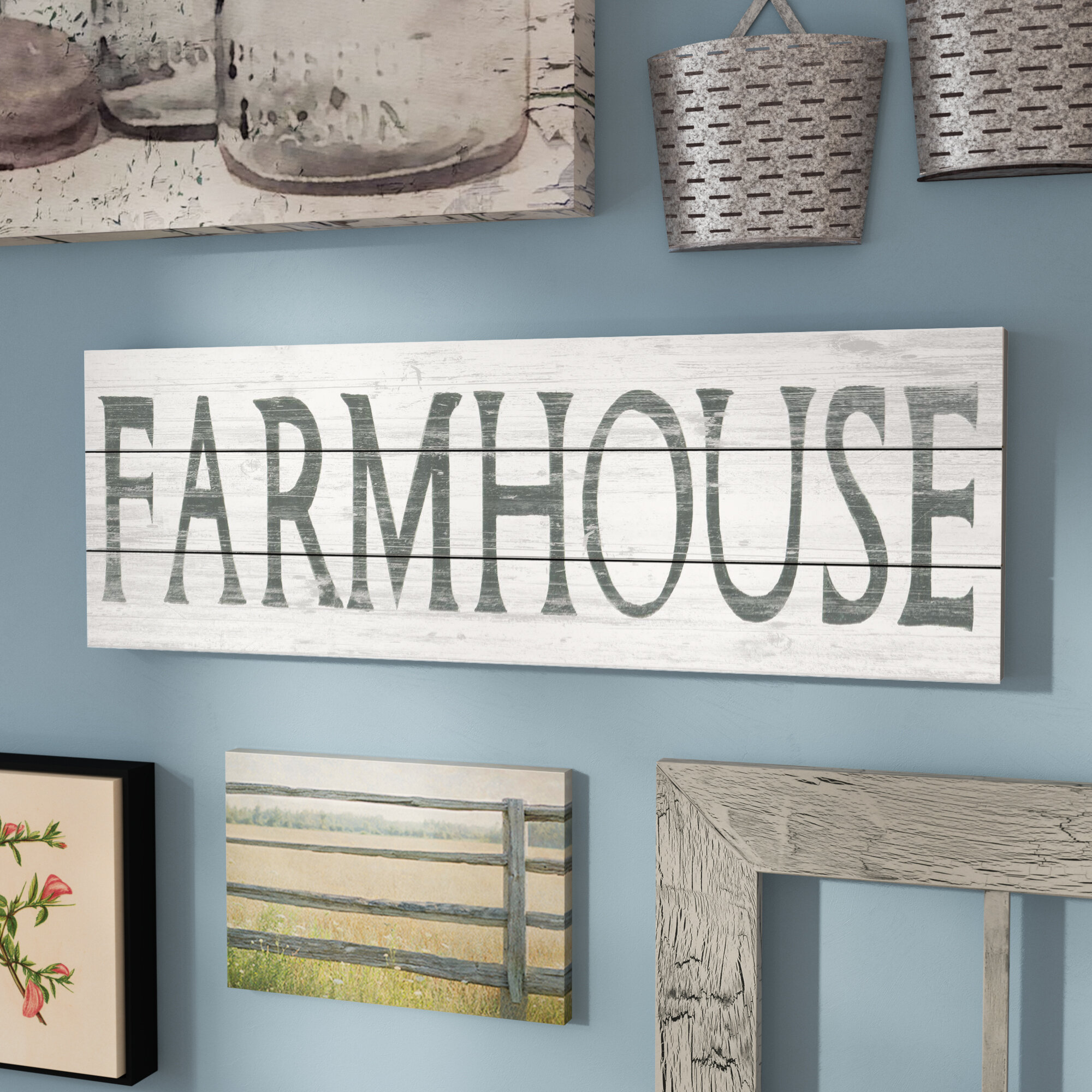 Laurel Foundry Modern Farmhouse \'Vintage Farmhouse\' Textual Art on ...