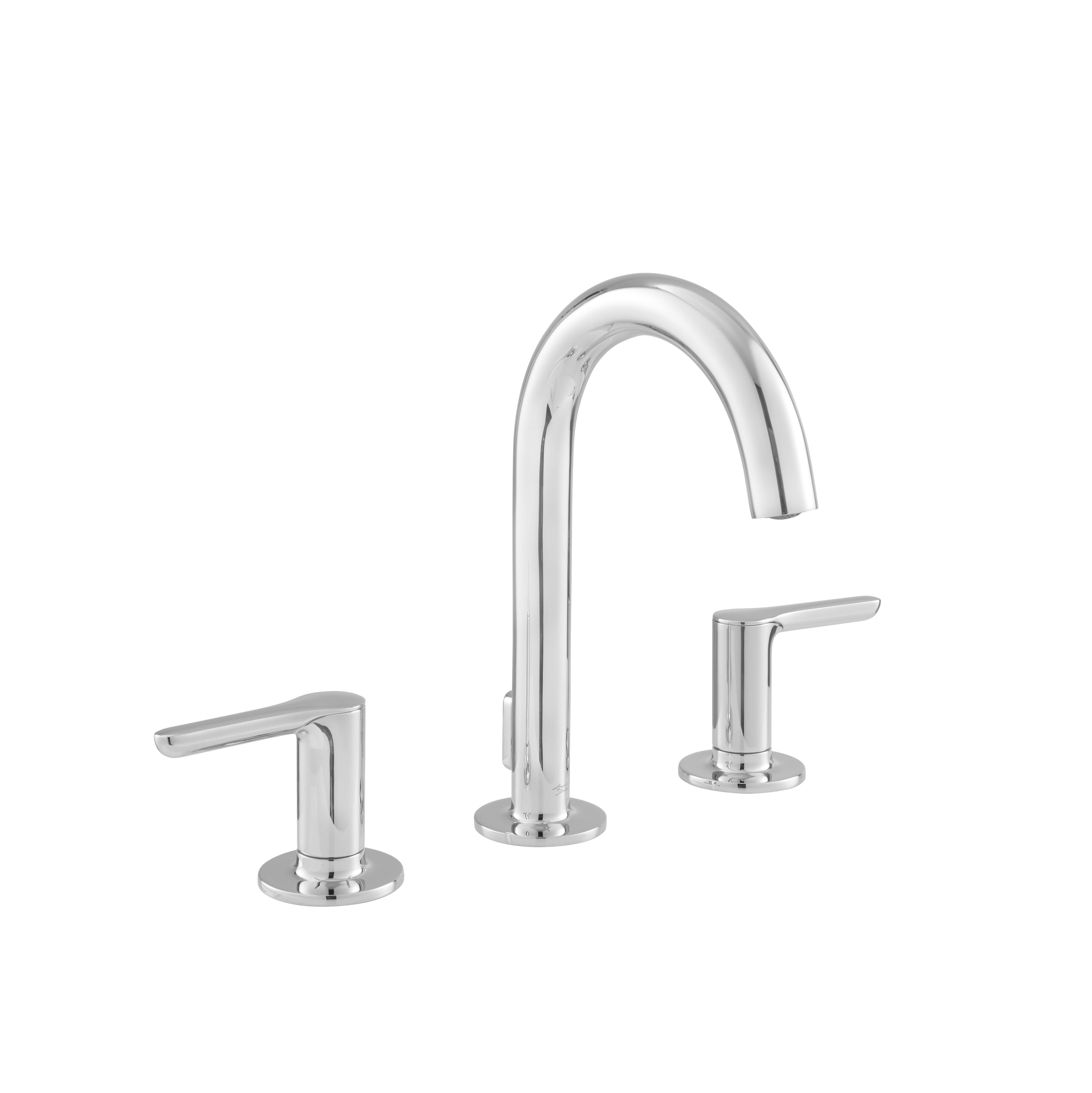 American Standard Studio S Widespread Bathroom Faucet With Drain - Bathroom vanity drain installation