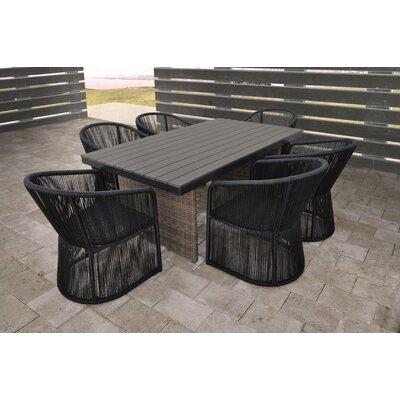 Cuerda 7 Piece Dining Set With Cushion Solis Patio