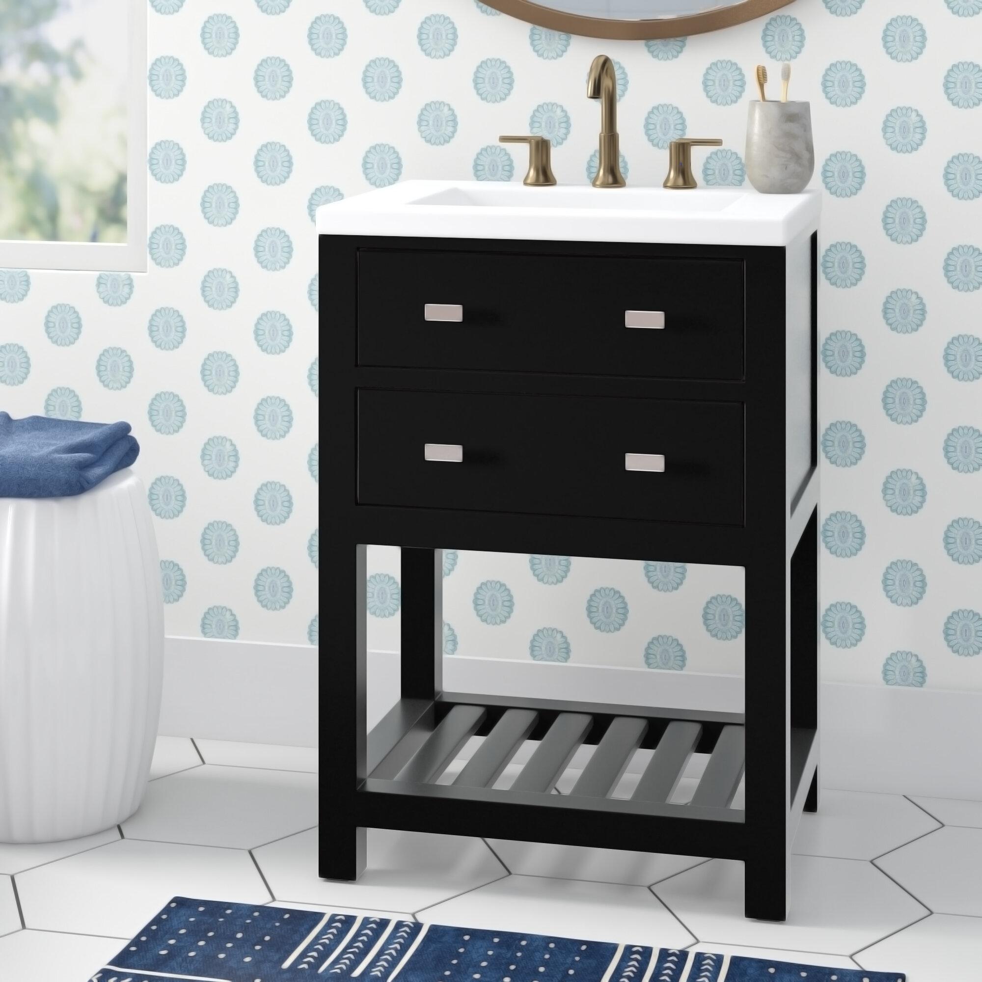 Joss Main Knighten Modern 24 Single Bathroom Vanity Set Reviews Wayfair