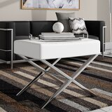 Chromium 24.5 Tufted Rectangle Standard Ottoman by Wade Logan®