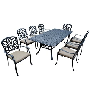 Bosch 9 Piece Dining Set with Cushion by Darby Home Co