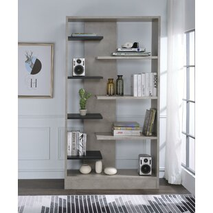 Chesson Faux Concrete Wooden Standard Bookcase by Brayden Studio