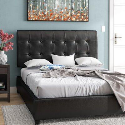 Norwalk Upholstered Standard Bed Zipcode Design? Color: Black, Size: Twin