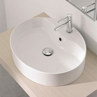 Buy luxury Wind Ceramic Oval Vessel Bathroom Sink with Overflow By Scarabeo by Nameeks