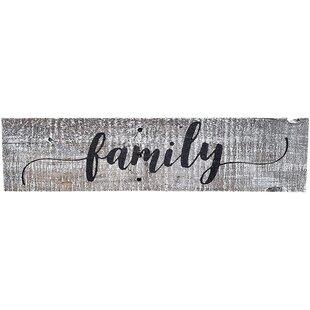 Rustic Family Sign Wayfair Ca