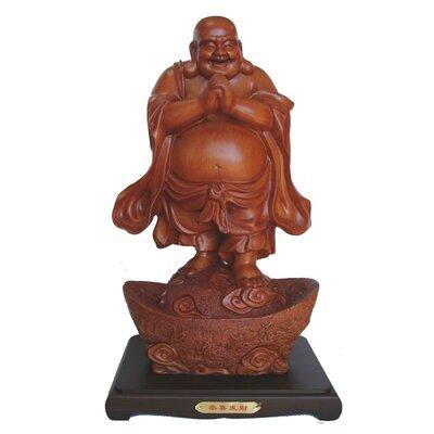 Bellafonte Feng Shui Big Chinese Money Buddha Statue Bungalow Rose -  AF6BB8EA33104C1FB7BFB407854156B7