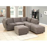 Annella 96 Reversible Modular Sectional with Ottoman by Latitude Run
