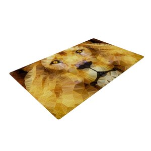 Ancello Lion King Yellow/Brown Area Rug