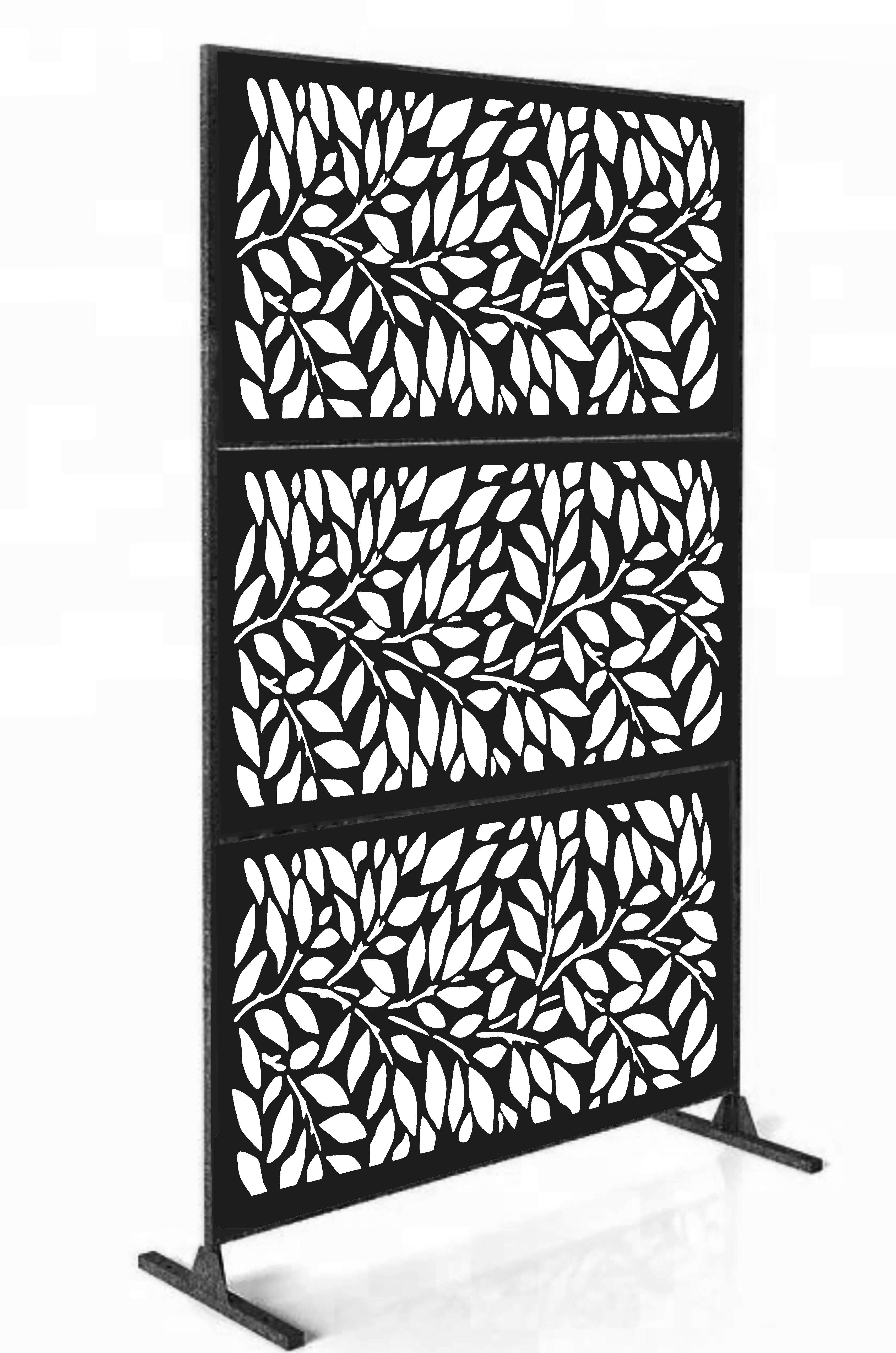 E Joy 6 Ft H X 4 Ft W Laser Cut Metal Fence Panel Wayfair