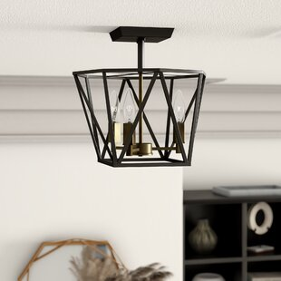 Mazon 3-Light Semi Flush Mount by Mercury Row