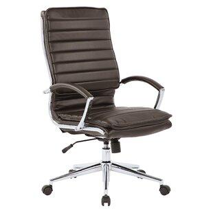 Reviews Jacobus High Back Executive Chair by Orren Ellis