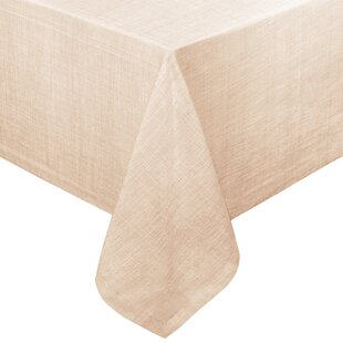 Cafe Deauville Chambray Vinyl Oblong Flannel Back Tablecloth