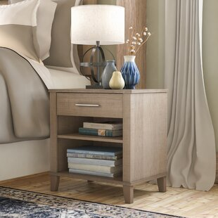 Laurel Foundry Modern Farmhouse Valencia 1 Drawer Nightstand