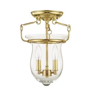 Brentwood 2-Light Semi Flush Mount by Bay Isle Home
