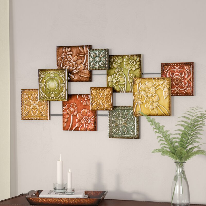 living room wall hangings. Bijou Square Panel Wall D cor Three Posts  Reviews Wayfair