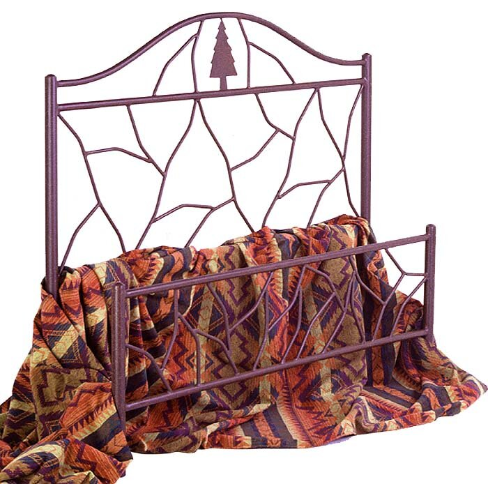 Twig and Tree Wrought Iron Bed