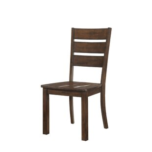 Morefield Solid Wood Dining Chair (Set of 2) Loon Peak
