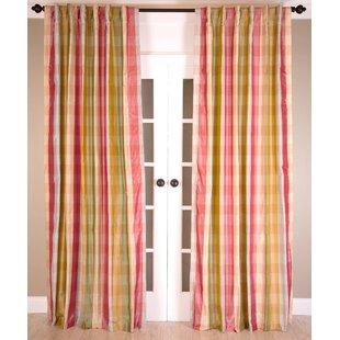 Damask Semi-Sheer Rod Pocket Single Curtain Panel by India's Heritage