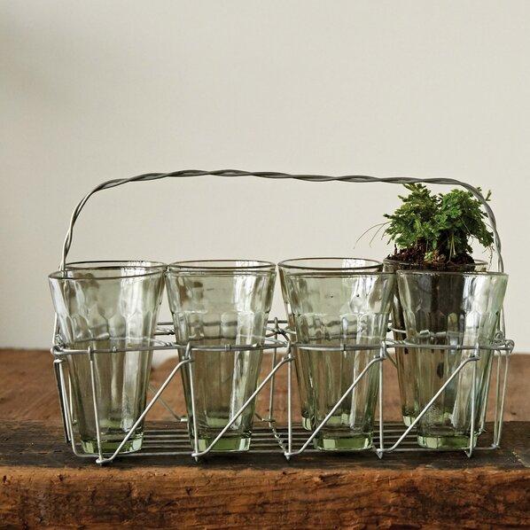 9 Piece Metal Open Weave Basket Set