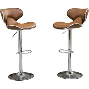 Harlow Adjustable Height Swivel bar stools (Set of 2)