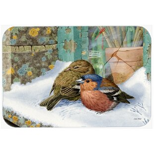 Chaffinches Glass Cutting Board