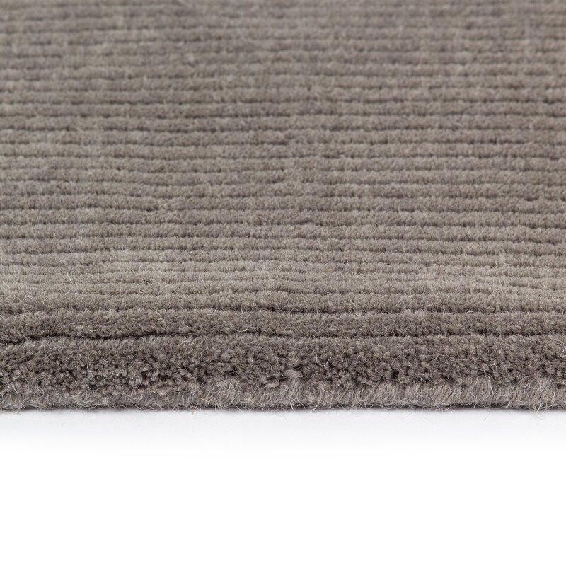 Ramstrad Handgefertigter Teppich aus Wolle in Grau & Bewertungen ...