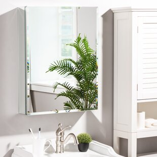 Gilderdale Recessed Mount Frameless 1 Door Medicine Cabinet with 2 Adjustable Shelves