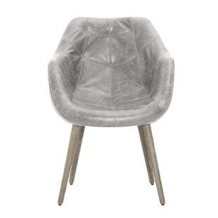 Pavlik Genuine Leather Upholstered Dining Chair by Brayden Studio