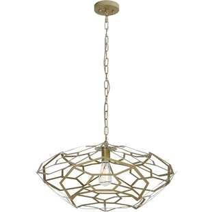 Wrought Studio Chavarria 1-Light Geometric Pendant