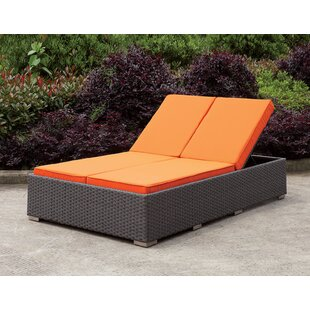 Brayden Studio Winterton Patio Double Reclining Chaise Lounge with Cushion