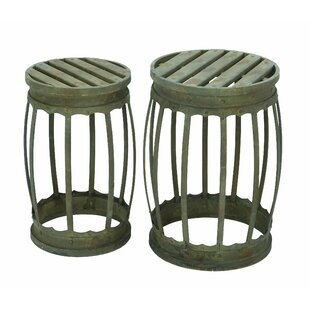 Dracut 2 Piece Barrel Patio Bar Stool Set