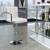 Dionisio Adjustable Height Swivel Bar Stool (Set of 2) by Orren Ellis